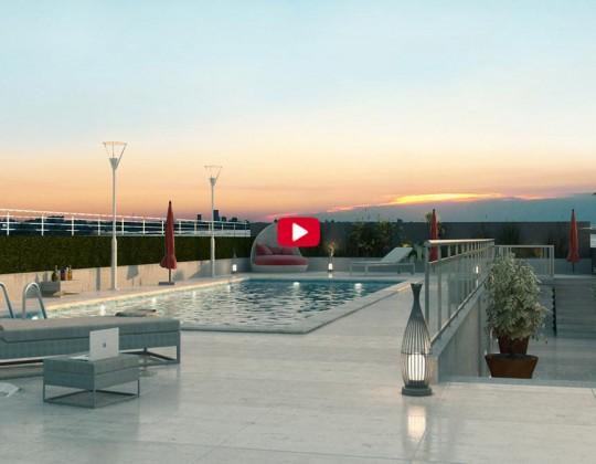Piscina terraza Cossio. Video 360º.